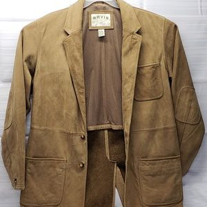 Orvis Men's Bandera Leather Jacket Size 44 Suede